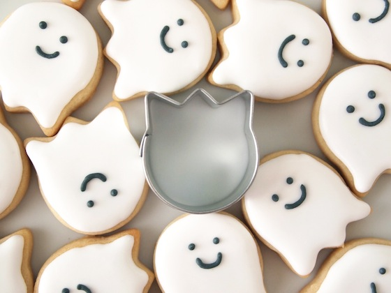 Sneaky Little Ghost Cookies, from MakeMeCake.Me