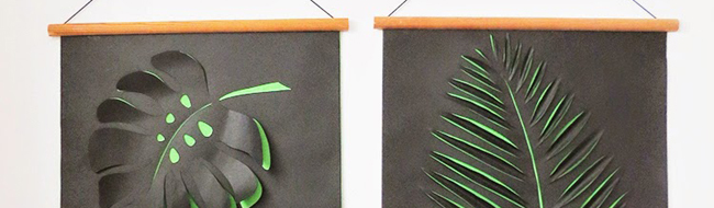 DIY paper wall art by Ohoh Blog