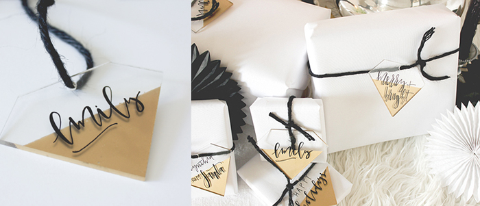DIY Acrylic Gift Tags
