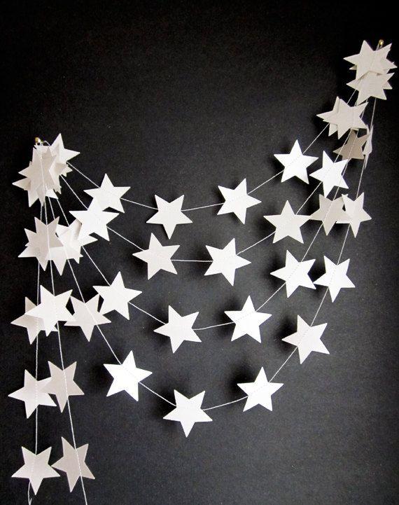 White Stars Garland