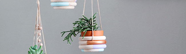 DIY hanging planters, by Andrea/We like Mondays via Ohhh… Mhhh…