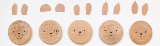 DIY Wooden Animal Magnets