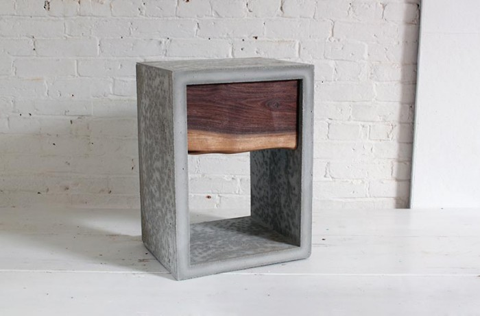 DIY Concrete and Walnut Nightstand, by HomeMade Modern