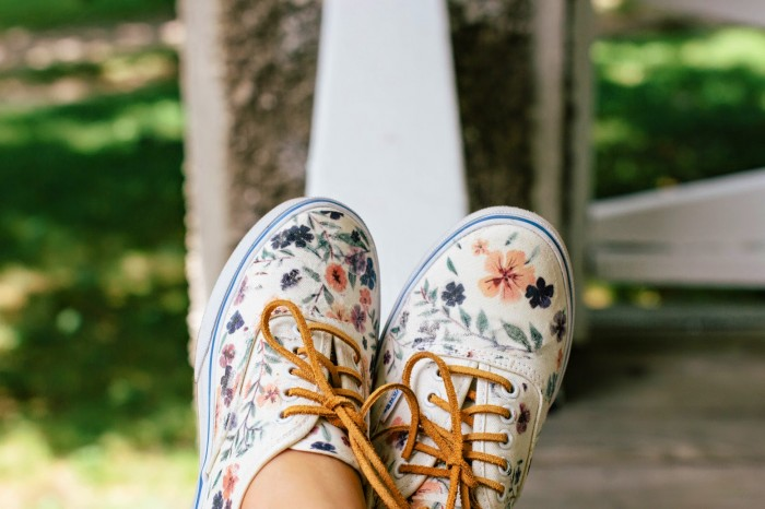 DIY Floral Vans, by Always Rooney