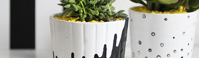 DIY Painted Pots, by I Spy DIY
