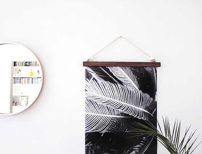 DIY Hanging Frame, by Design Sponge