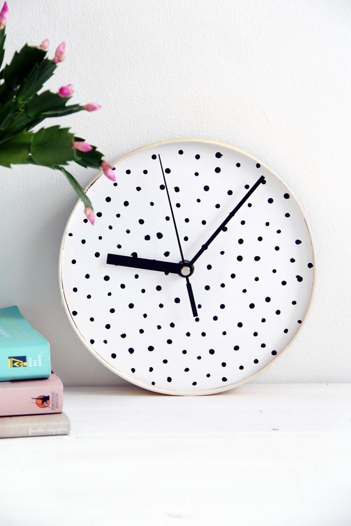DIY Dotted Wall Clock, via Design Sponge