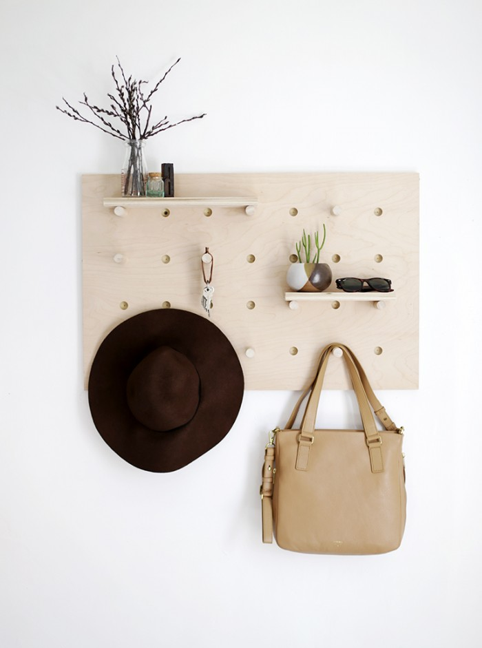DIY Pegboard Wall Organizer, by The Merrythought