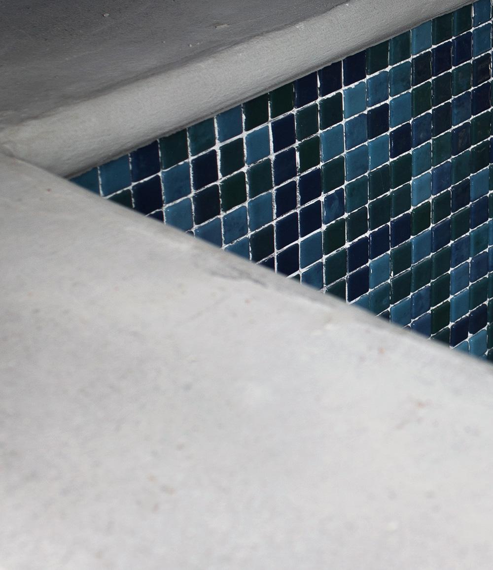 Daniellas trädgård - Poolbygge_mosaik