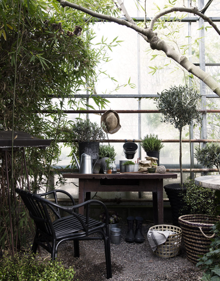 Daniella Witte_Ikea Livet hemma_Planteringsgäldje i växthuset