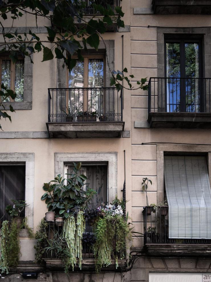Grön balkong
