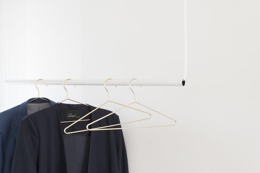 DIY klädhängare hall