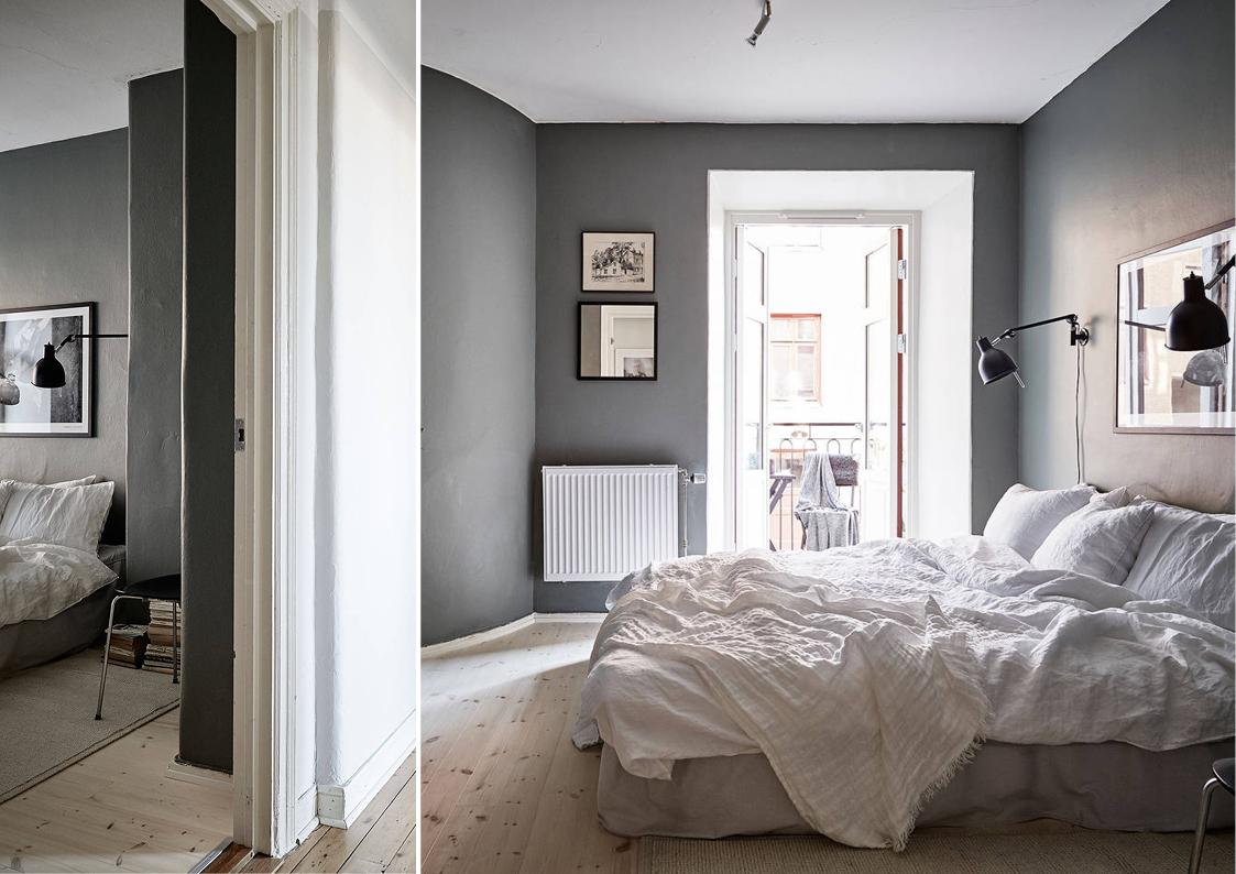 A dark grey bedroom   Stilinspiration