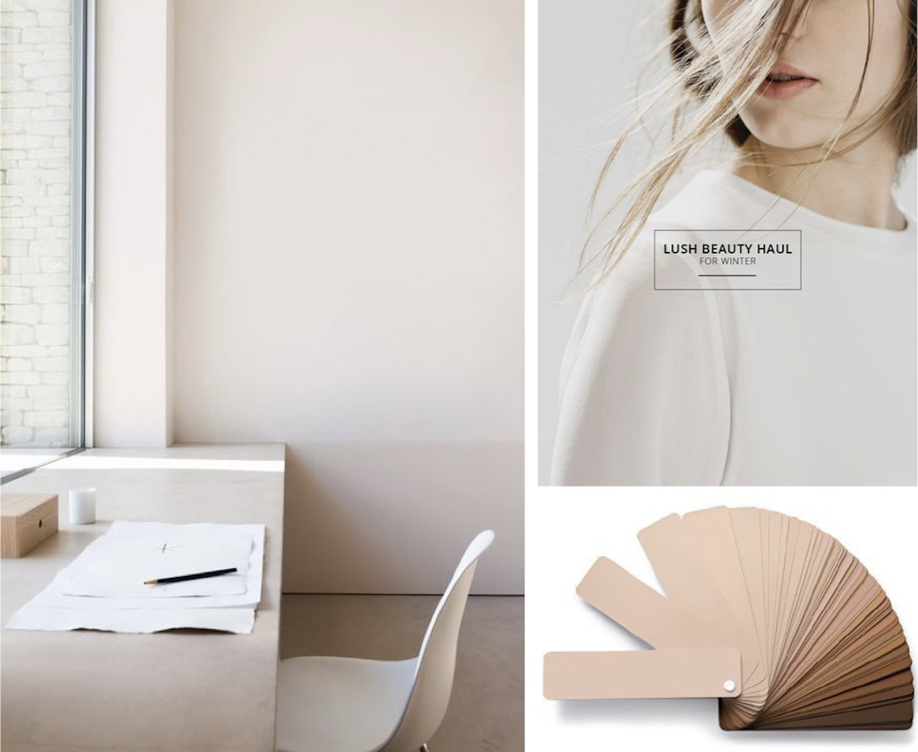 New colour vibe: Beigebrown + Blush
