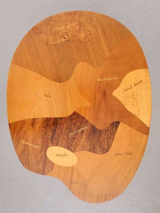 Bordsskiva olika träslag